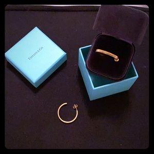 Tiffany earrings gold